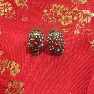 *3 for $30* H&M - Skull Crystal Pave Stud Earrings